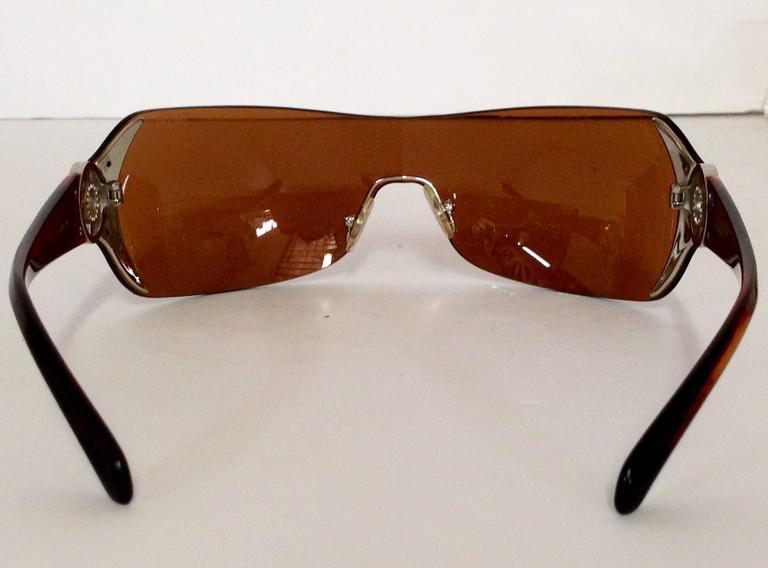 c032c240af5 Brown Tortoise   Swarovski Crystal Sunglasses In Excellent Condition For  Sale In