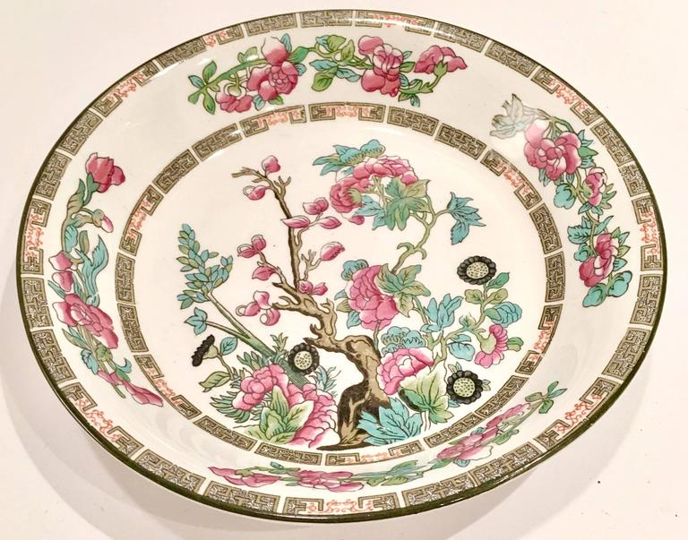 19th Century English China Quot Indian Tree Quot 10 Piece Set By