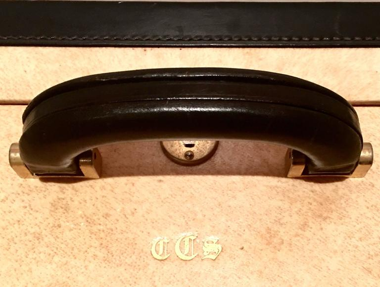 Vintage Italian Vellum and Leather Suitcase Made for Barney's New York 1