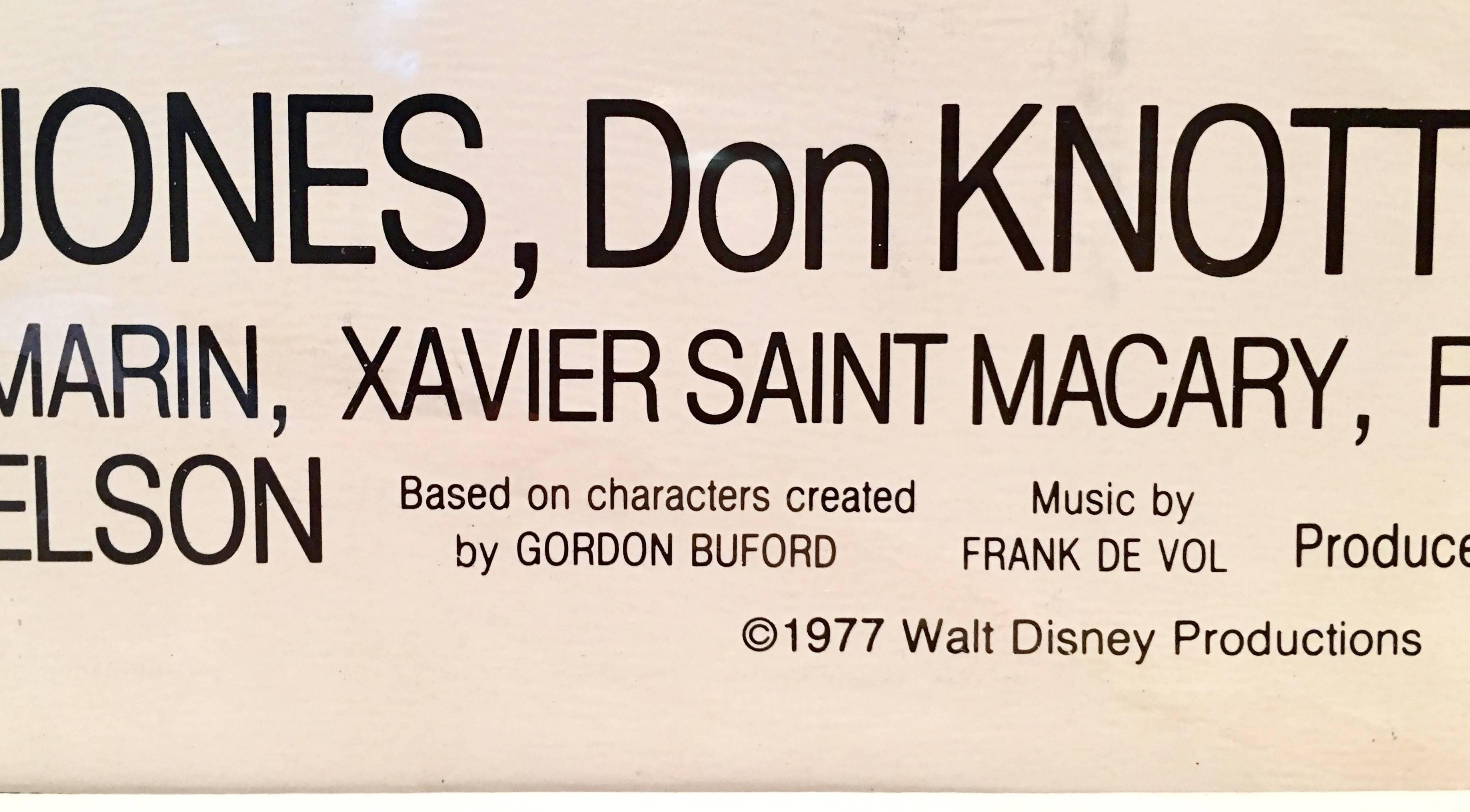 1977 Original Movie Poster Walt Disney\'s \