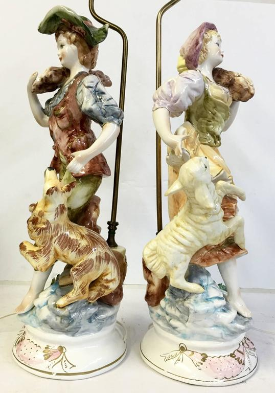 Pair Of Italian Porcelain Capodimonte