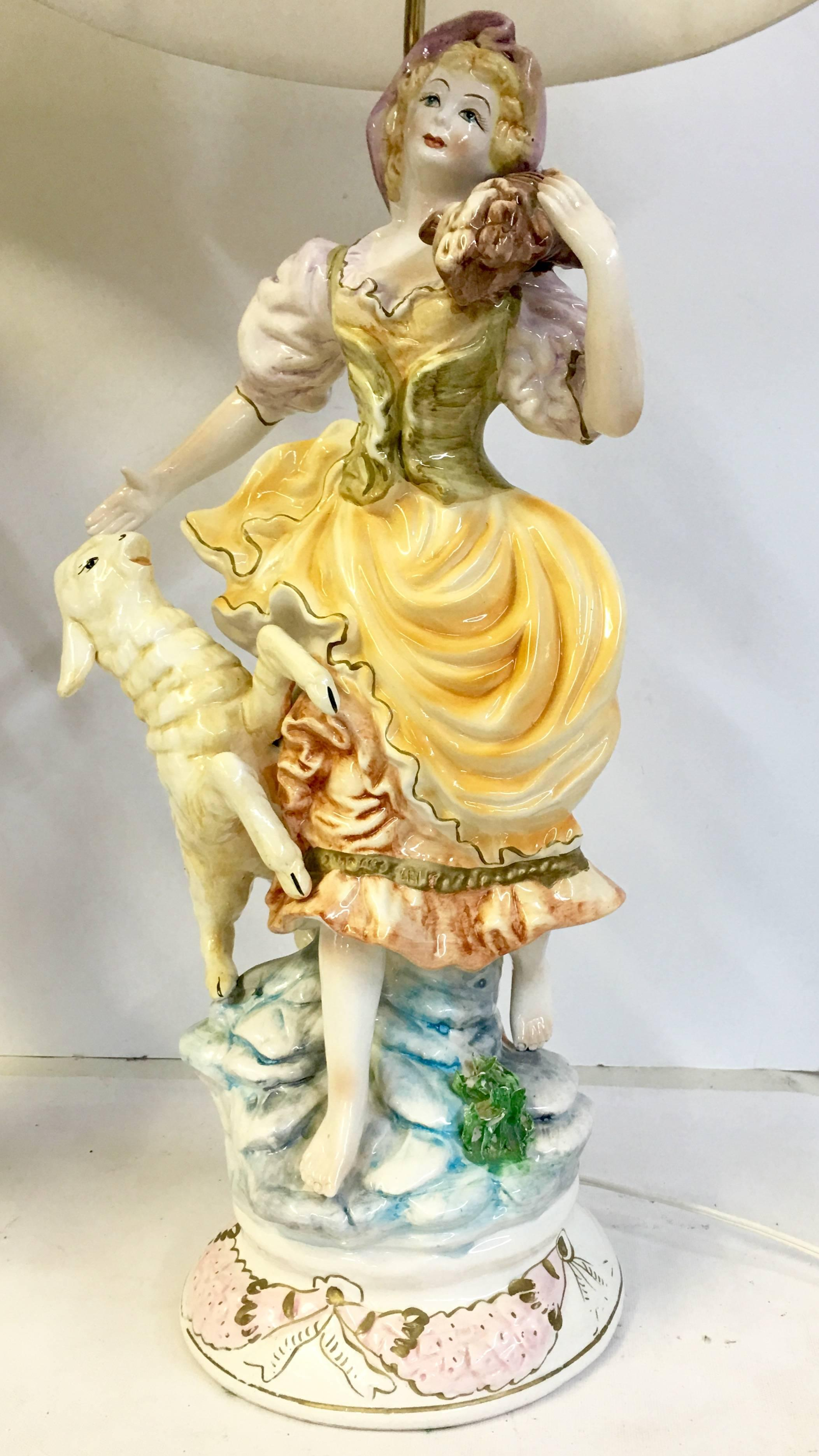50\'S Pair Of Italian Porcelain Capodimonte Country Boy and Girl ...