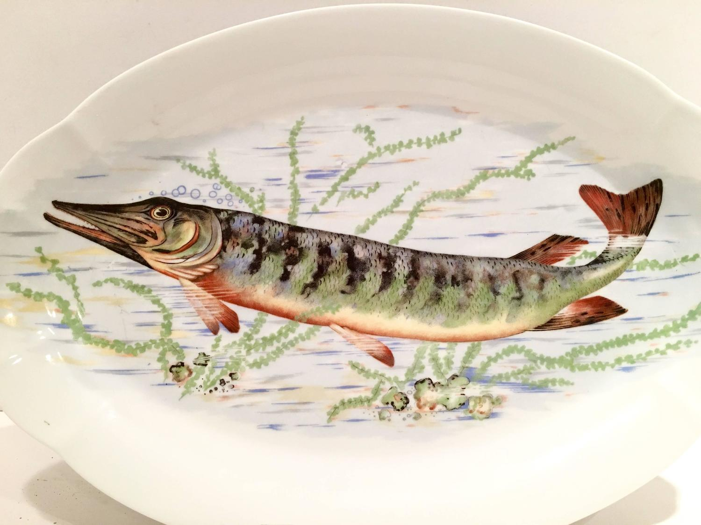 Antique french limoge fish serving platter for sale at 1stdibs for Fish serving platter