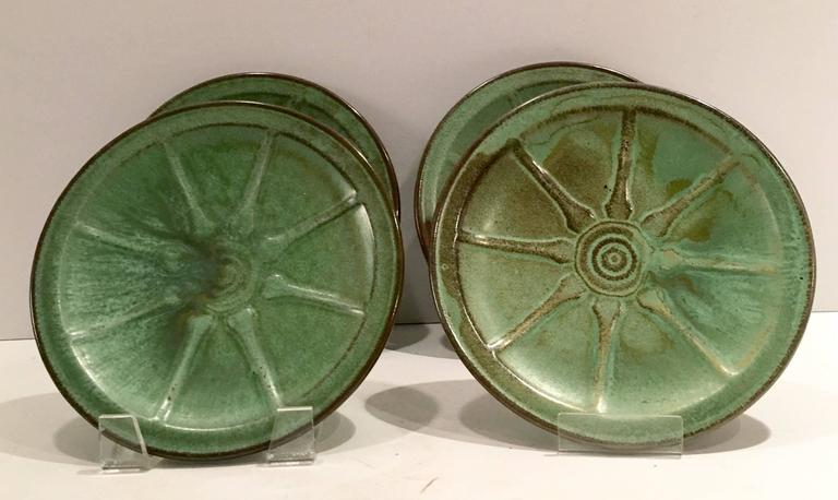 Mid Century Frankoma Quot Wagon Wheel Quot Dinnerware Set Of