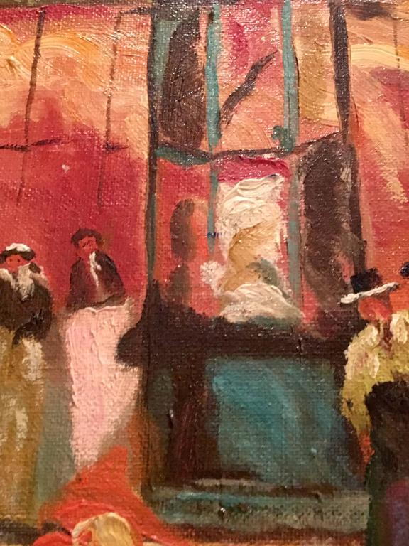 Mid-Century Original Oil Painting Paris Street Scene By, N. Proudlock For Sale 2