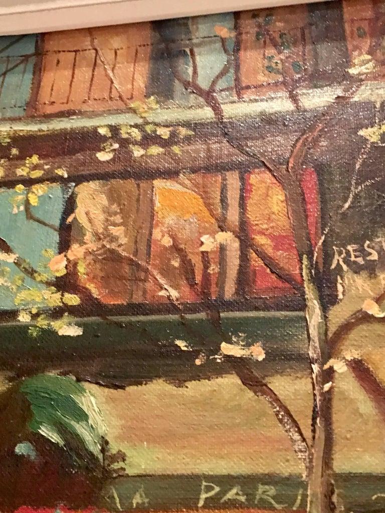 Mid-Century Original Oil Painting Paris Street Scene By, N. Proudlock For Sale 7