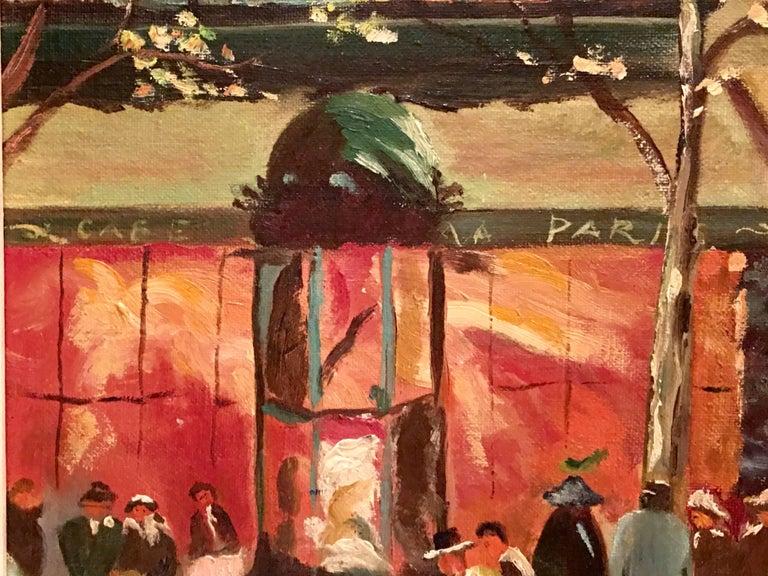 Mid-Century Original Oil Painting Paris Street Scene By, N. Proudlock For Sale 4