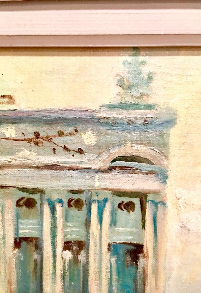 Mid-Century Original Oil Painting Paris Street Scene By, N. Proudlock For Sale 8