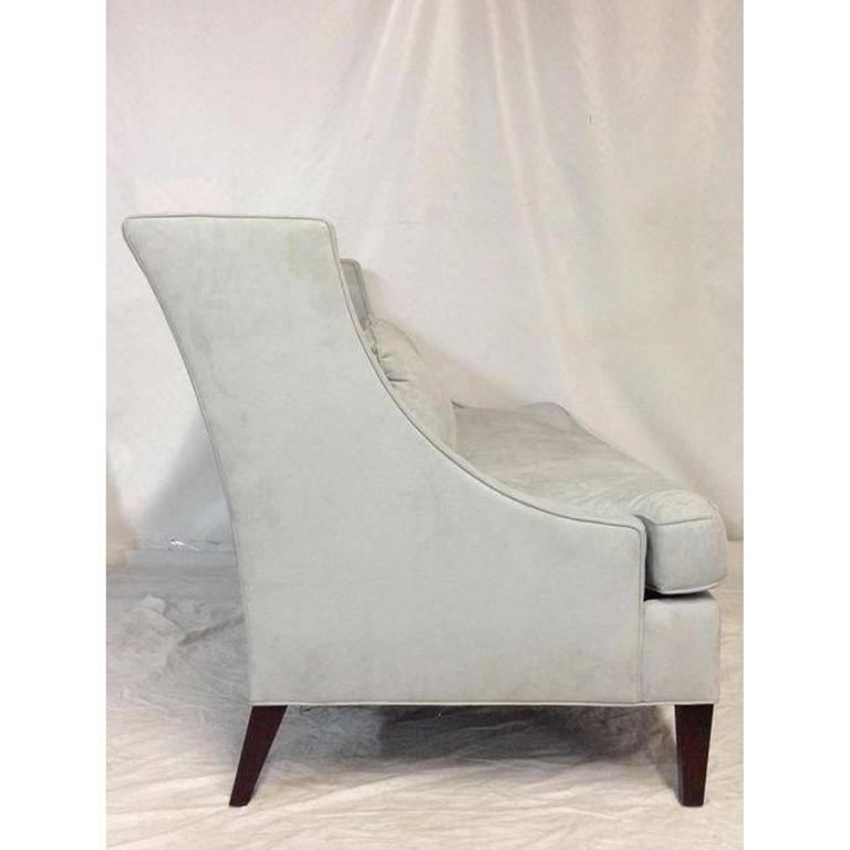 Modern Contemporary American Made Upholstered Settee For