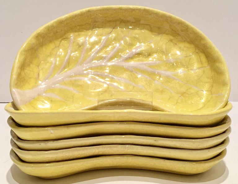 Ceramic 1950s Portugal Majolica Yellow Cabbage Dinnerware Set of 24 For Sale : portuguese dinnerware sets - pezcame.com