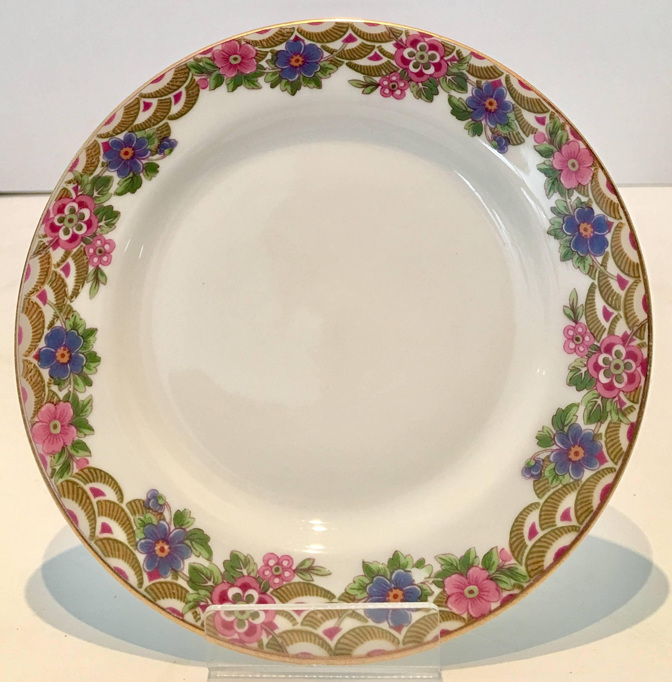 French Art Deco Limoges Porcelain and 24K Gold Dinnerware S/25 By Jean Pouyat For Sale at 1stdibs & French Art Deco Limoges Porcelain and 24K Gold Dinnerware S/25 By ...