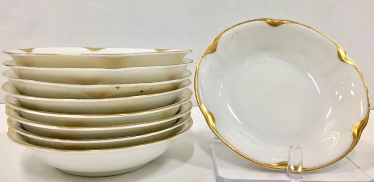 Czech 1930s Porcelain and 18-Karat Gold Dinnerware Set of 23 Pieces by Royal Epiag & 1930s Porcelain and 18-Karat Gold Dinnerware Set of 23 Pieces by ...