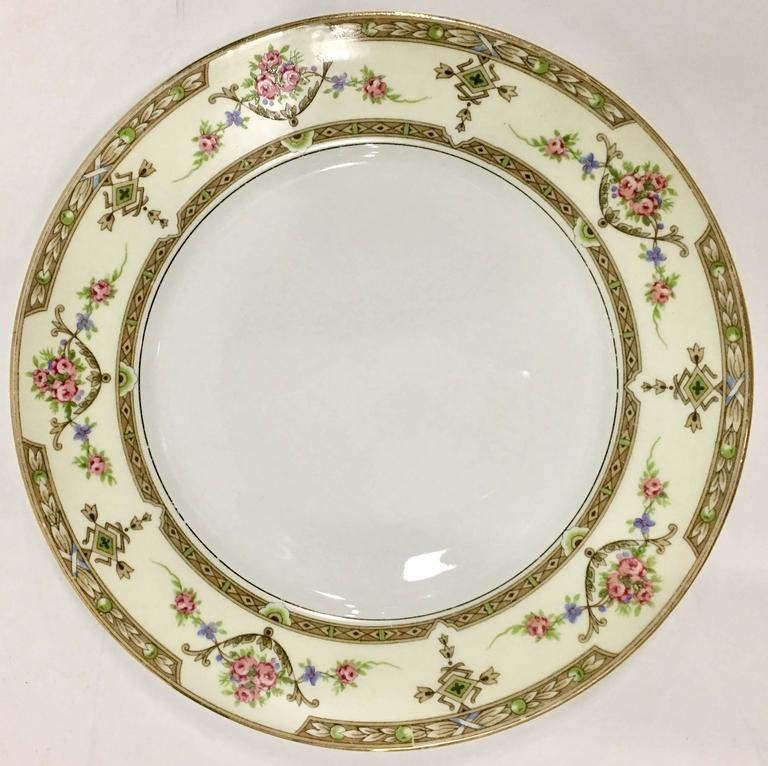 Mid-Century Art Nouveau style French porcelain dinnerware in the pattern  Lafayette   sc 1 st  1stDibs & Limoges France Porcelain Dinnerware Set of 15