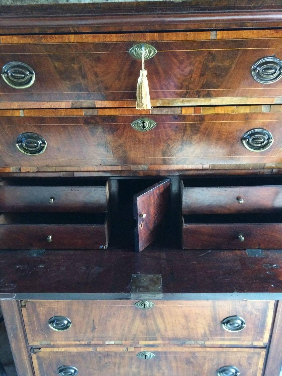 #976434 George III Antique Tallboy Chest Of Drawers Secretaire  with 1125x1500 px of Highly Rated Vintage Tallboy Chest Of Drawers 15001125 picture/photo @ avoidforclosure.info