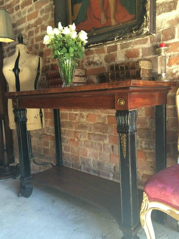 French Empire Style Console Hall Table 19th Century Victorian