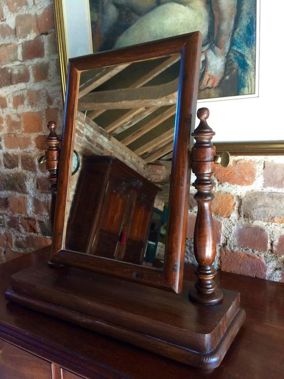 Antique Victorian Swing Frame Toilet Mirror Dressing