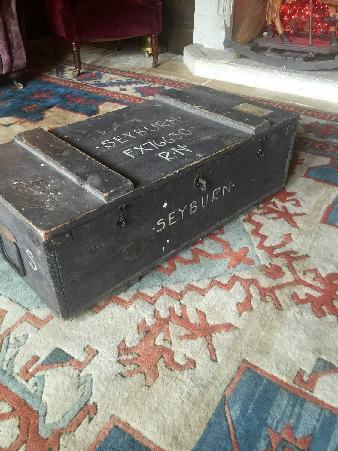 Trunk Chest Coffee Table Blanket Box Vintage Retro For Sale At 1stdibs