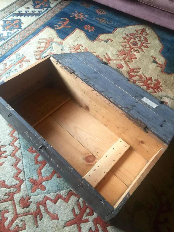 Trunk Chest Coffee Table Blanket Box Vintage Retro At 1stdibs