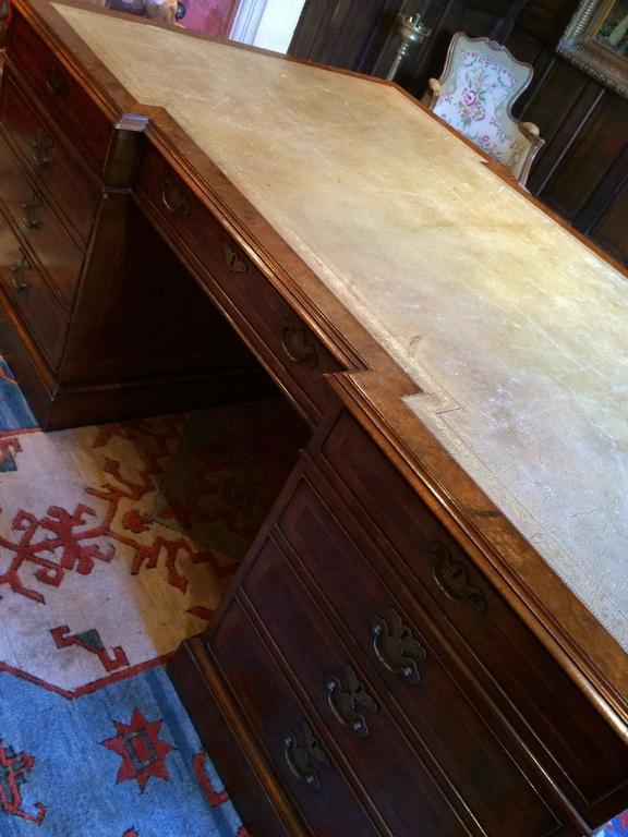 Antique Style Large Partners Desk Walnut Brights Of Nettlebed 2