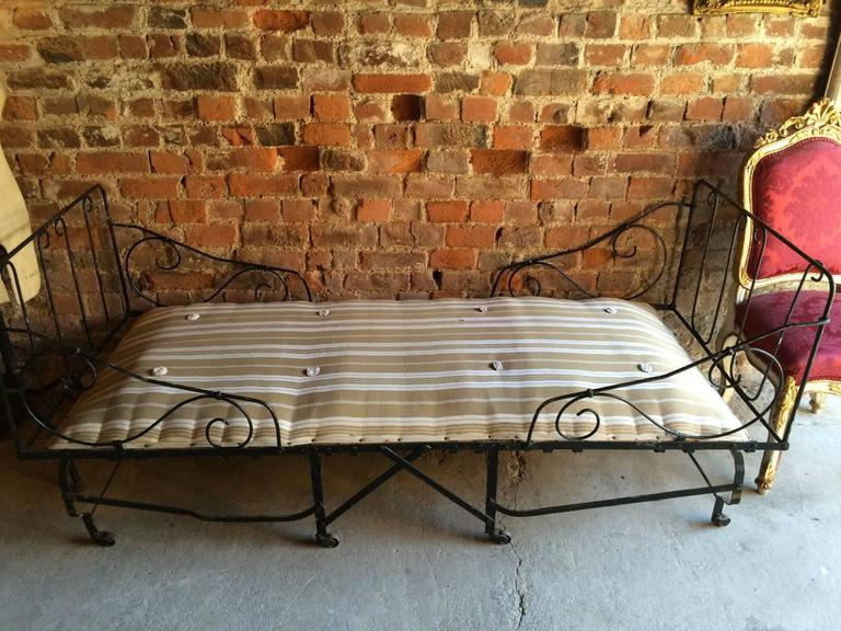 Antique Day Bed Folding Campaign French Edwardian Early