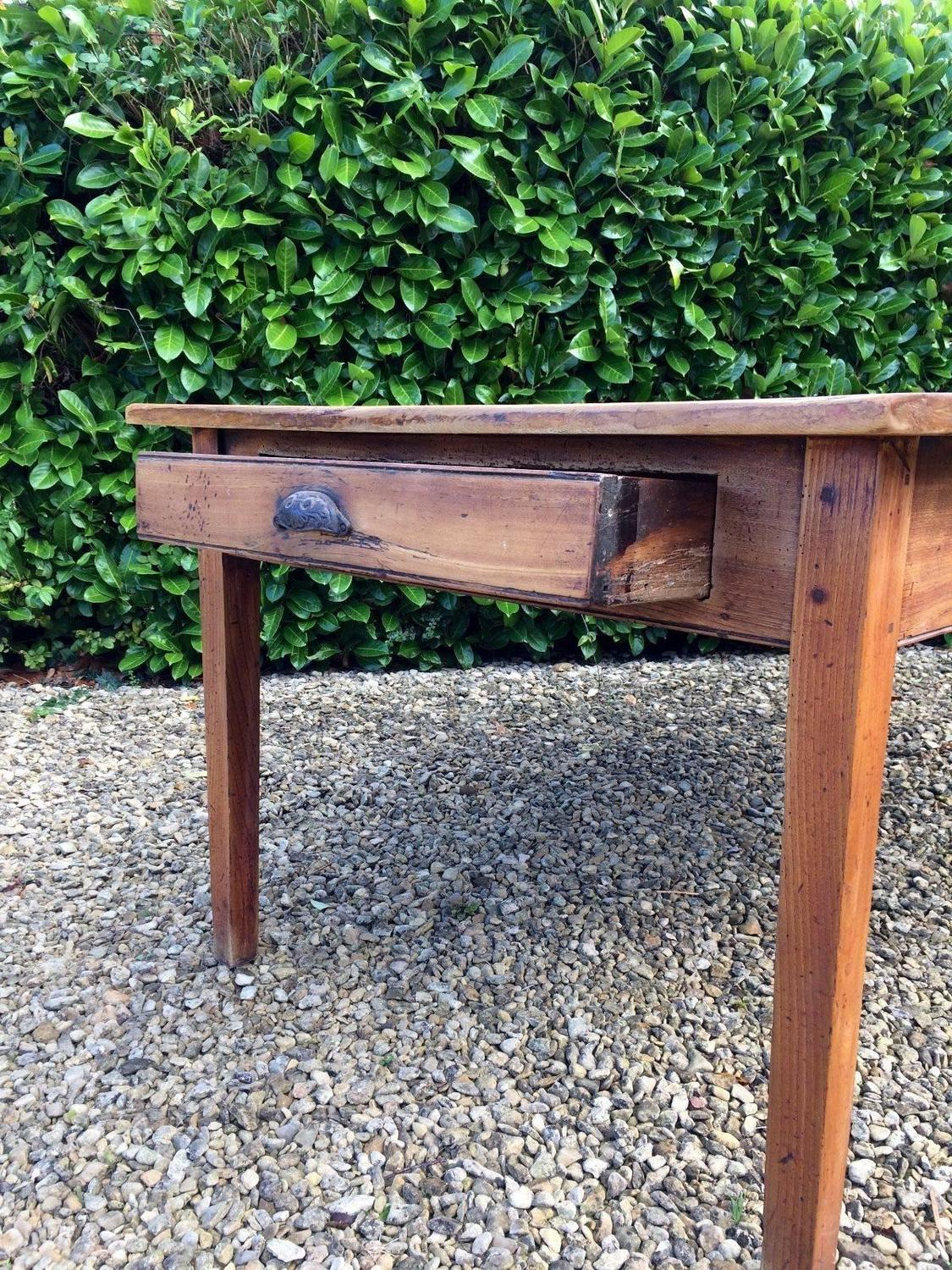 French Farmhouse Pine Kitchen Table Rustic For Sale at 1stdibs
