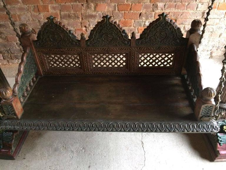 Antique Swing Royal Indian Rajasthani Jodhpur Hand Carved
