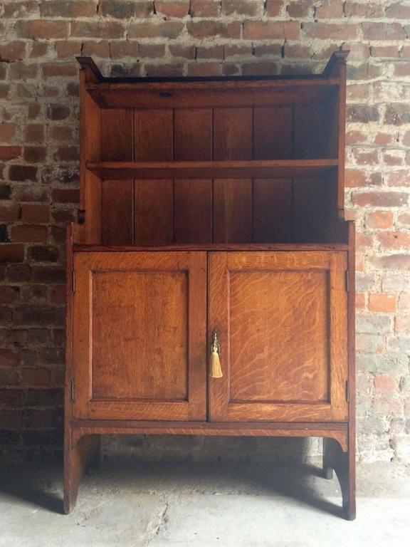 Antique Dresser Cabinet Herrmann American Golden Oak 20th