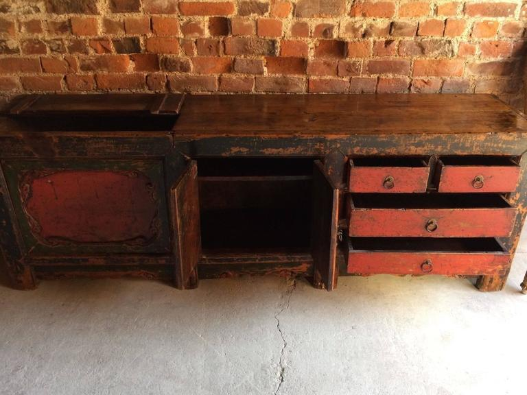 Antique Chinese Sideboard Credenza Grain Store Kang 18th