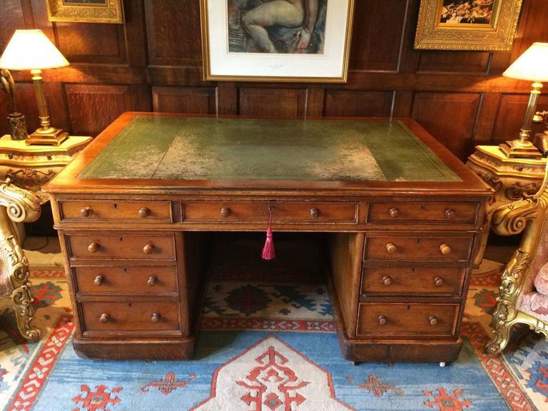 Antique Partners Desk Squeaky Desk Chair