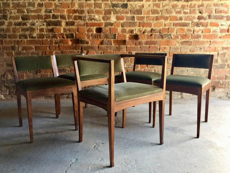 Edward Barnsley Dining Chairs Set Of Five Stamped Dated