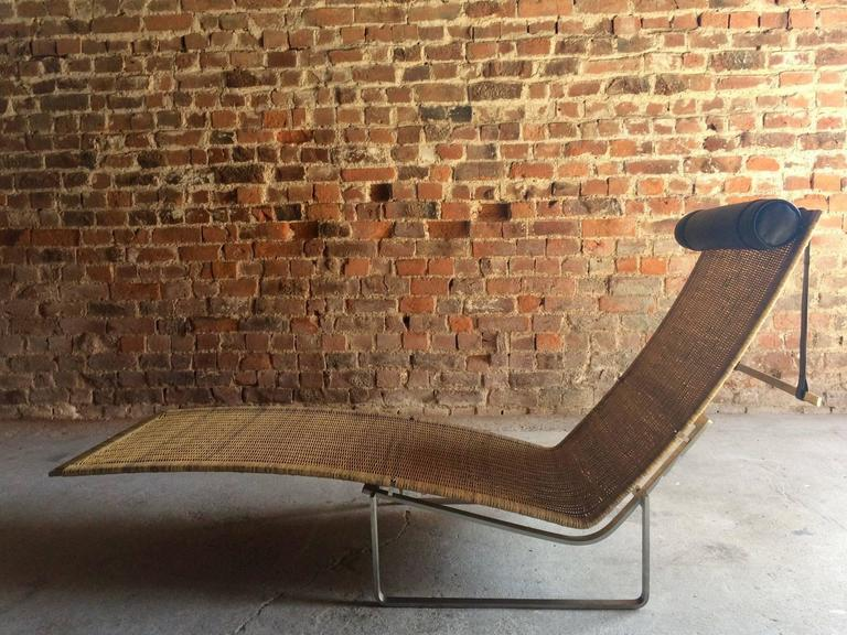 Stunning poul kj rholm style chaise longue lounger model for Bauhaus chaise lounge