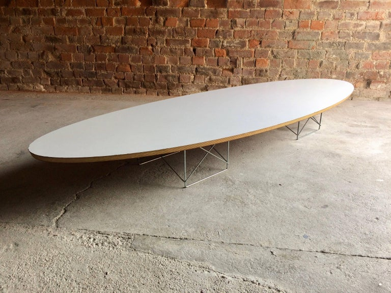 Charles And Ray Eames Elliptical Coffee Table For Herman Miller Surfboard For Sale At 1stdibs