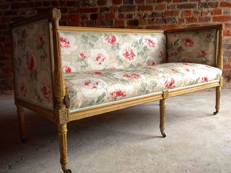 Antique 18th Century French Louis XV Salon Sofa Settee Painted Beech, circa 1770 10