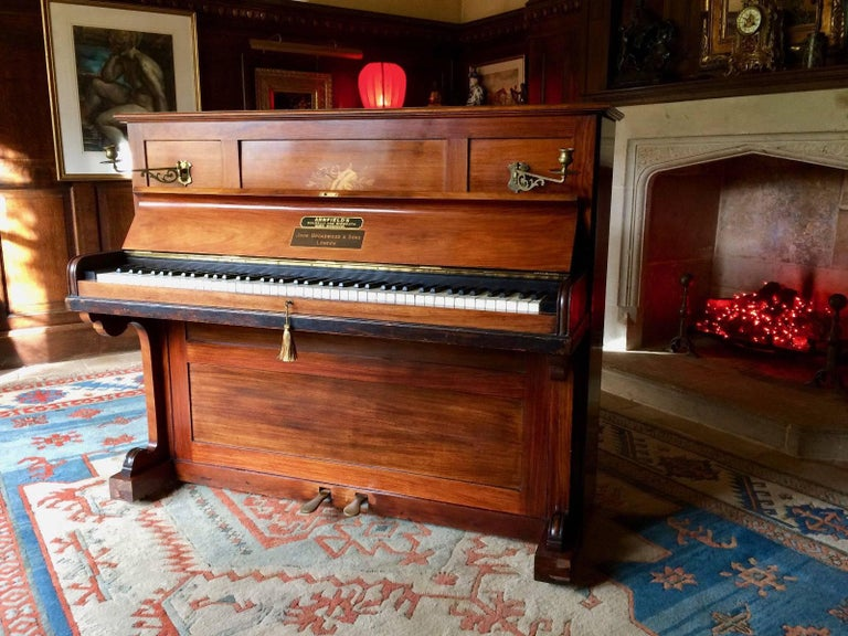 Upright Piano By John Broadwood And Sons Rosewood Inlaid
