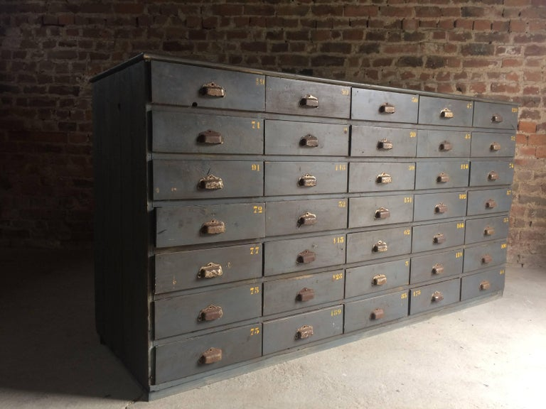 industrial chest of drawers loft style antique pair engineers sideboard for sale at 1stdibs. Black Bedroom Furniture Sets. Home Design Ideas