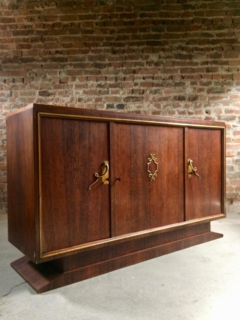 French Art Deco Sideboard Credenza Buffet Walnut Midcentury, 1950s For Sale 1