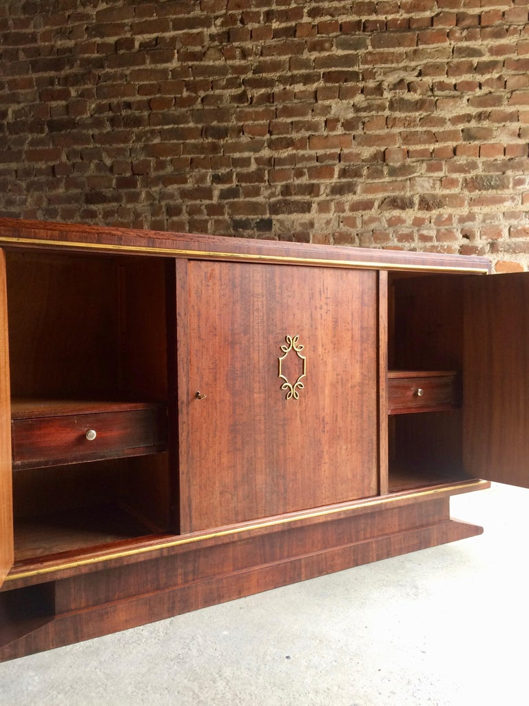 French Art Deco Sideboard Credenza Buffet Walnut Midcentury, 1950s For Sale 8