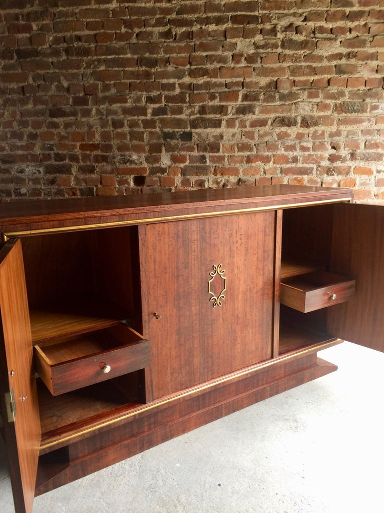 French Art Deco Sideboard Credenza Buffet Walnut Midcentury, 1950s For Sale 4