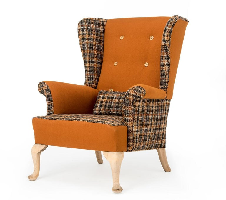 European Fabulous Armchairs Pair the Thunderbird Parker Knoll Fireside Wing Chair Bespoke For Sale