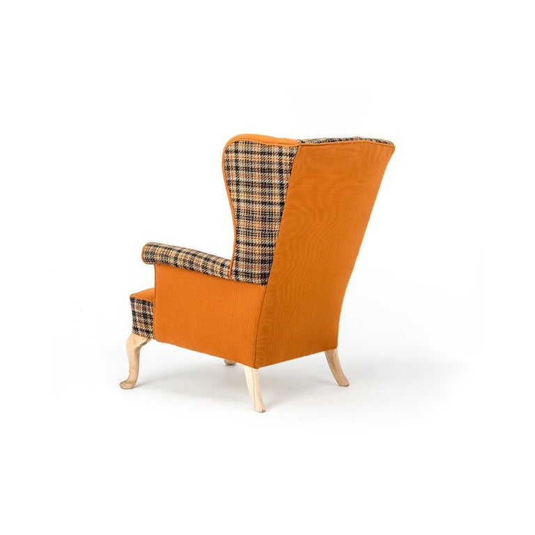 Victorian Fabulous Armchairs Pair the Thunderbird Parker Knoll Fireside Wing Chair Bespoke For Sale