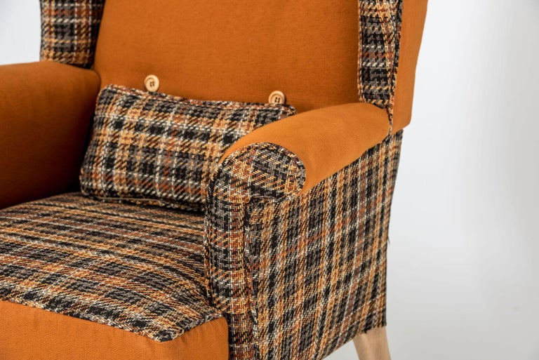 Mid-20th Century Fabulous Armchairs Pair the Thunderbird Parker Knoll Fireside Wing Chair Bespoke For Sale