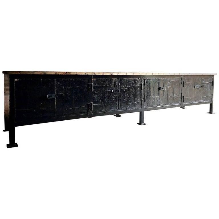 large kitchen industrial work station 1930 at 1stdibs. Black Bedroom Furniture Sets. Home Design Ideas