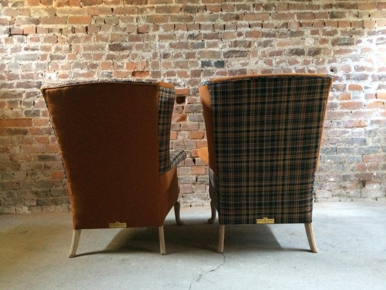 Fabulous Armchairs Pair the Thunderbird Parker Knoll Fireside Wing Chair Bespoke For Sale 2