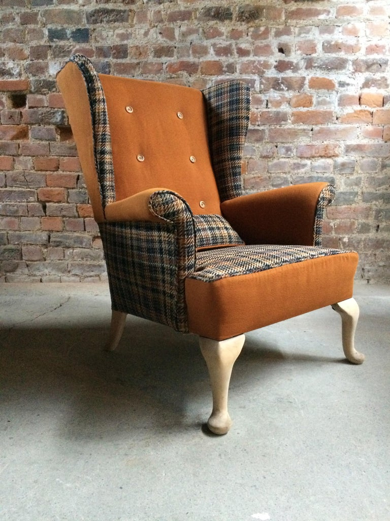 Fabulous Armchairs Pair the Thunderbird Parker Knoll Fireside Wing Chair Bespoke For Sale 3
