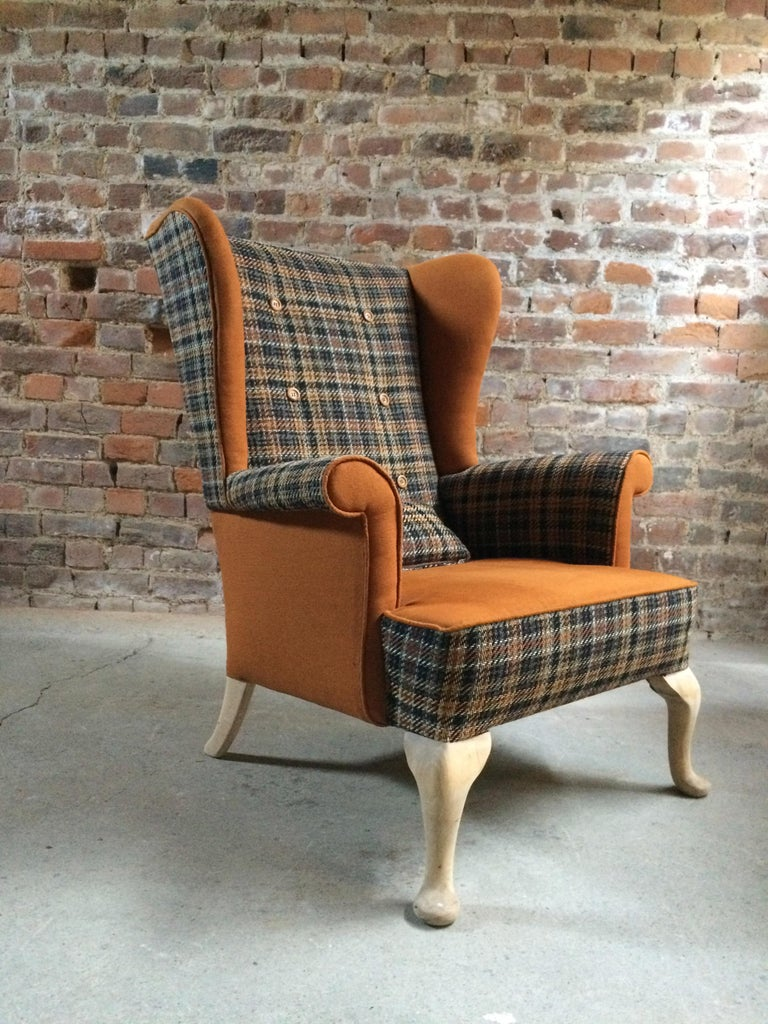 Fabulous Armchairs Pair the Thunderbird Parker Knoll Fireside Wing Chair Bespoke For Sale 4