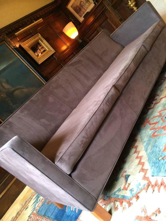 Knoll Studio Krefeld Three-Seat Sofa Settee Ludwig Mies van der Rohe Leather at 1stdibs