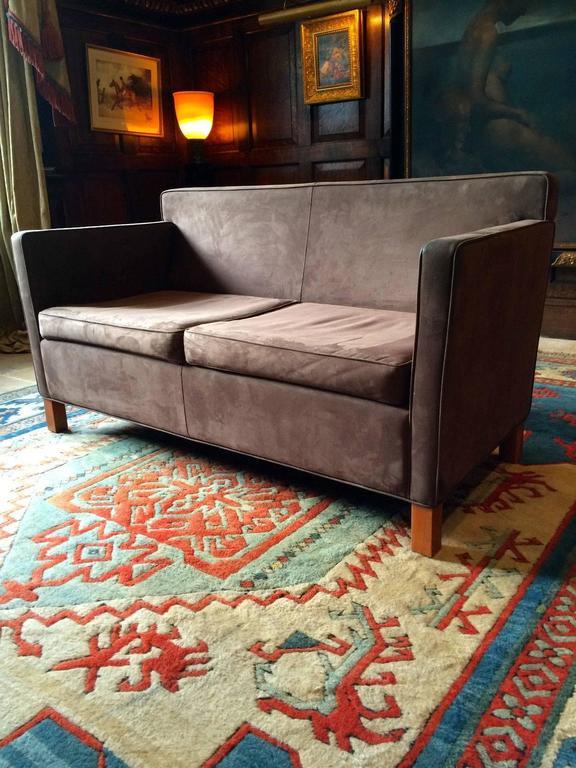 Knoll Studio Krefeld Two-Seat Sofa Settee Mies van der Rohe Leather 2 at 1stdibs