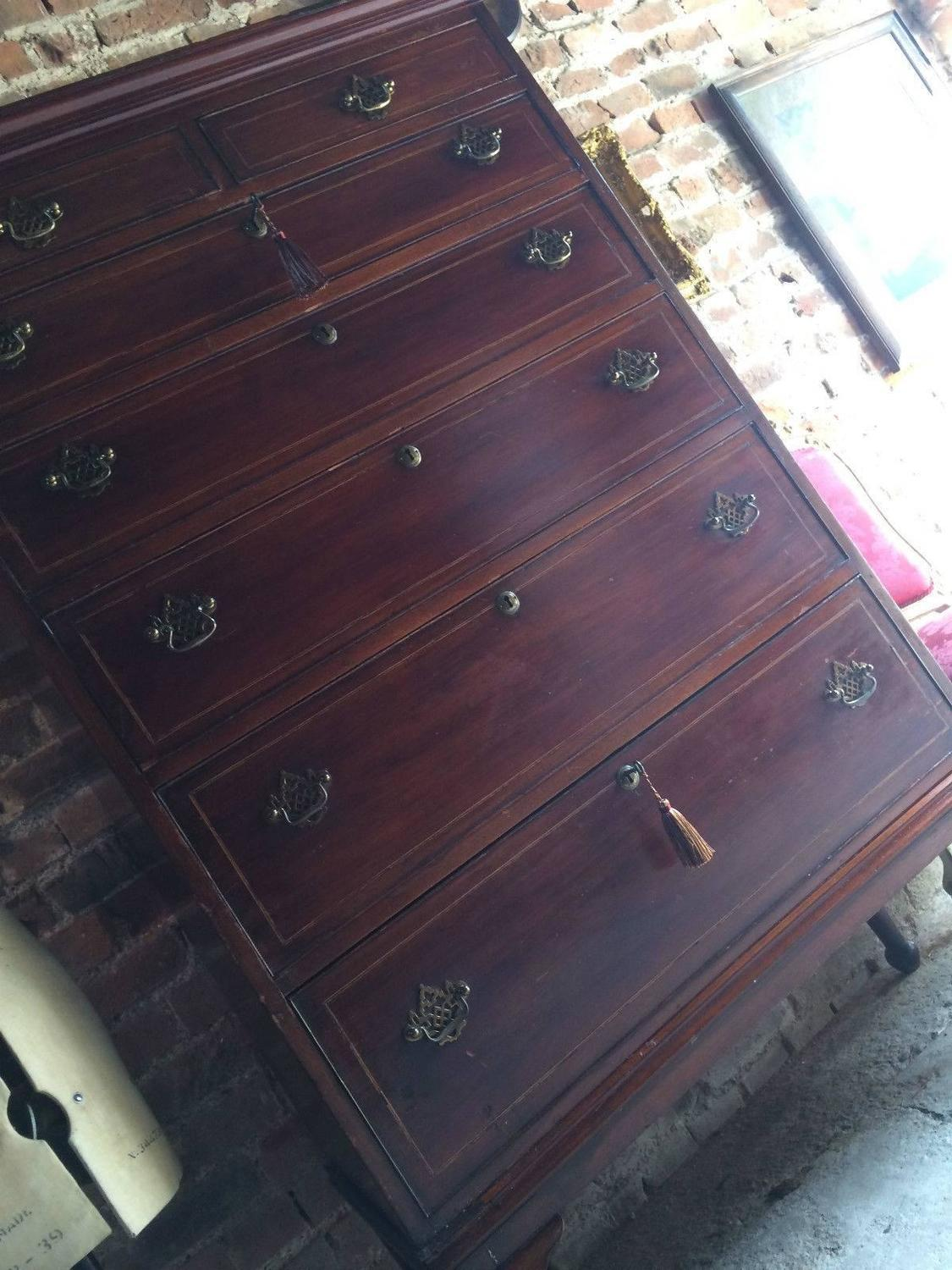 #496F82 Antique Tallboy Chest Of Drawers Dresser Mahogany 19th  with 1125x1500 px of Highly Rated Vintage Tallboy Chest Of Drawers 15001125 picture/photo @ avoidforclosure.info