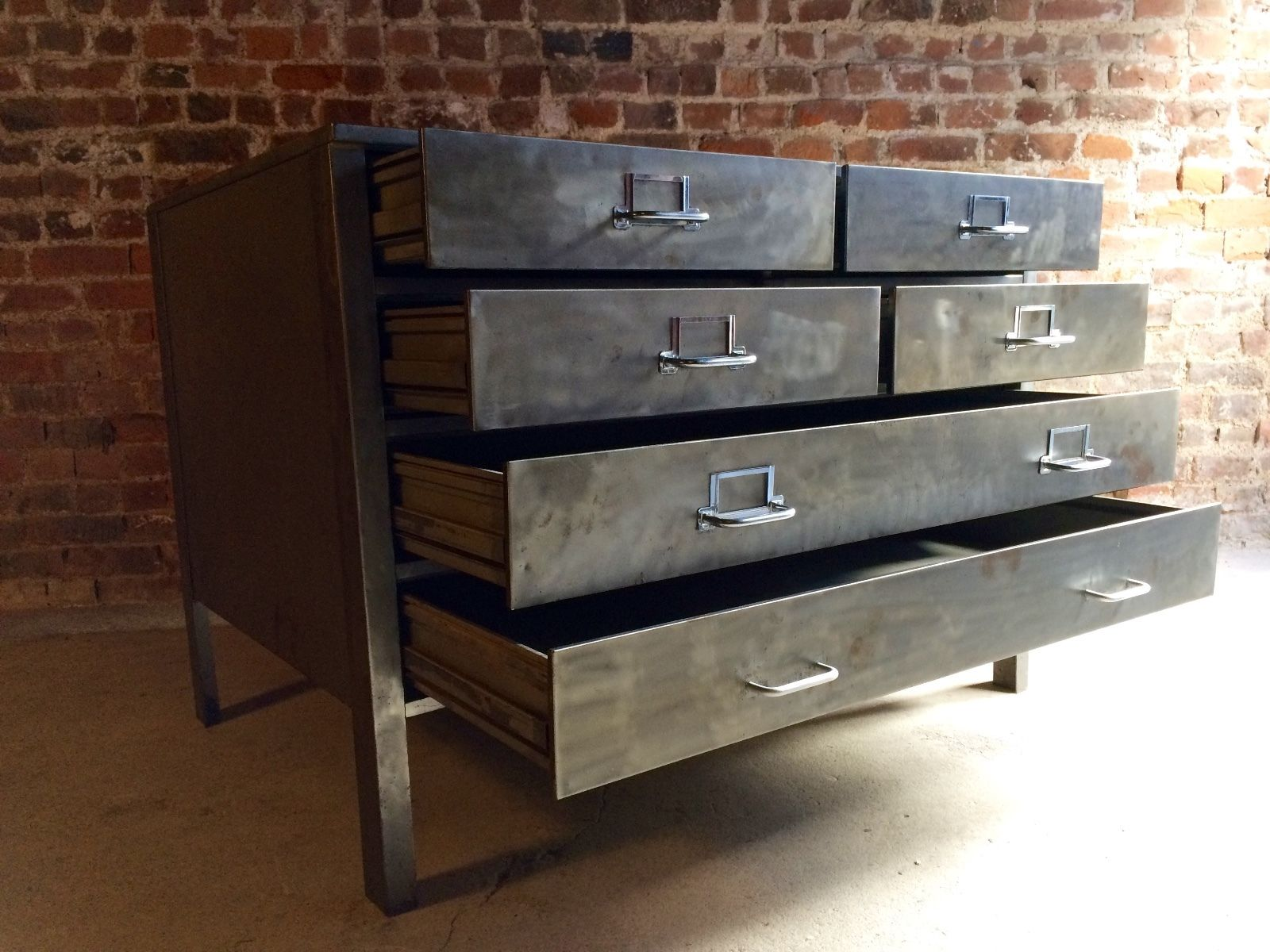 boy antique dealer six full drawer industrial chest drawers plan of tall cottage