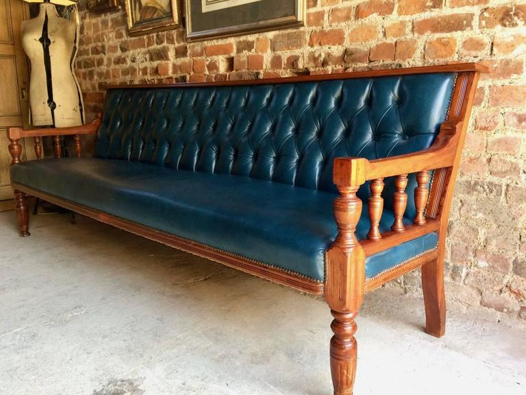 Antique Chesterfield Sofa Settee Club Style Very Large Button Back, 1900 at 1stdibs
